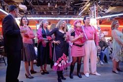 INAUGURAL BALL :  INAUGURAL BALL Members of Code Pink at the Graduate ball. - PHOTO BY STEVE E. MILLER