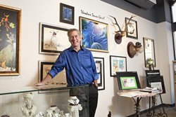 WORLD OF WHIMSY :  Greg Wilkins opened A Muse Gallery with the intention of amusing the public and inspiring artists. - PHOTO BY STEVE E. MILLER