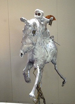 THE GOOD RIDE :  Jeanette Wolff's self-portrait reveals chutzpah, according to her fellow Studios in the Park artists. - PHOTO COURTESY OF STUDIOS ON THE PARK