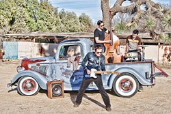ROCKIN' AND STRUTTIN':  Rockabilly act the Phil Friendly Trio plays Creeky Tiki on May 22. - PHOTO COURTESY OF THE PHIL FRIENDLY TRIO