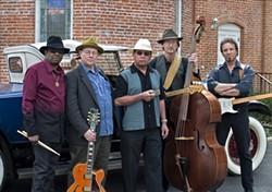 WEST COAST BLUES :  Code Blues and a line up of all-star guests will paint the Rotary Bandstand Stage blue during the Arroyo Grande Village Summer Concert Series show on Aug. 15. - PHOTO COURTESY OF CODE BLUES