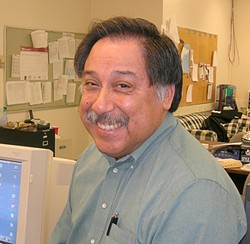 INTREPID :  George Ramos, the beloved hard-hitting journalism professor and former chair of Cal Poly's Journalism Department, passed away sometime around July 23, leaving behind a legacy of old-school reporting. - PHOTO COURTESY OF CAL POLY JOURNALISM DEPTARTMENT