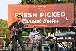 SUMMER OF GRUB:  The Farmers' Market's new summer concert series features a different local band every month. - PHOTO COURTESY OF DOWNTOWN ASSOCIATION