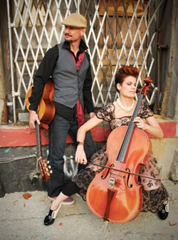 TWO IS ALL YOU NEED :  Eclectic acoustic duo Montana Skies plays March 11 at Painted Sky Studios. - PHOTO COURTESY OF MONTANA SKIES