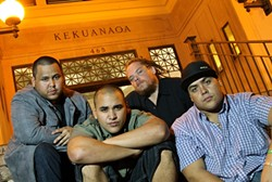 GREEN MACHINE :  Hawaiian reggae act The Green plays SLO Brew on March 8. - PHOTO BY TAMMY MONIZ; COURTESY OF THE GREEN