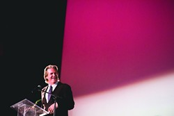 THE DUDE :  Gracious and cool, Jeff Bridges took home the King Vidor Award at the SLOIFF, after which The Big Lebowski was screened. - PHOTO BY HENRY BRUINGTON