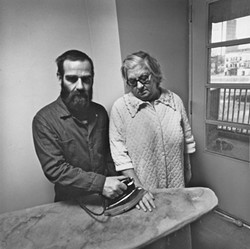 EDDIE BERMAN AND HIS MOTHER: - PHOTO BY ARTHUR TRESS, COURTESY OF IAN SAUDE GALLERY