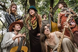 FOLK ORCHESTRA!:  Oregon-based Patchy Sanders plays May 8 at Coalesce Bookstore and May 9 at Castoro Cellars. - PHOTO COURTESY OF PATCHY SANDERS