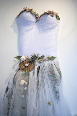 TREASURES OF LAND AND SEA :  Gaia's Gown, by Jennifer Blue, incorporates treasures of the ocean into wearable art. - PHOTO BY STEVE E. MILLER