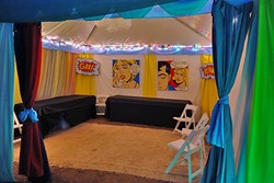 LIVE OAK HOSPITALITY:  The Live Oak Music Festival is famous for its backstage artists' accommodations, which are decorated by volunteer artists. - PHOTO BY GLEN STARKEY