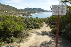 FIXER-UPPER? :  By voting on Feb. 26 to accept Pirate's Cove into the county's inventory of parks, the San Luis Obispo County Board of Supervisors took the first step toward a paved parking lot and trail improvements that many beach regulars worry will diminish the site's majestic nature. - PHOTO BY STEVE E. MILLER