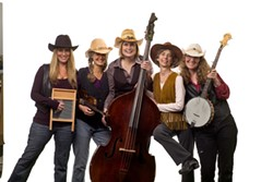 LADIES OF BLUEGRASS:  The Arroyo Grande Village Summer Concert Series continues on July 27, when The Honeysuckle Possums play the Rotary Bandstand. - PHOTO COURTESY OF THE HONEYSUCKLE POSSUMS