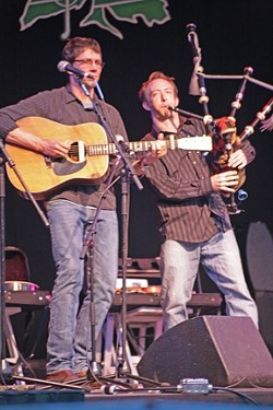 MUSICAL BRETHREN :  Stuart Mason and David Brewer of Molly's Revenge delivered the goods. - PHOTO BY GLEN STARKEY