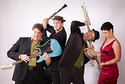 THEY'RE THEIR OWN INSTRUMENTS:  All The Bobs need are the voices and body percussion to make amazing music, as they will on April 18 when they play Cal Poly's Spanos Theatre. - PHOTO COURTESY OF THE BOBS