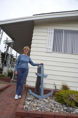 UNMOVING MOBILE :  At Sea Oaks in Los Osos, residents like Marie Pounders have become involved in the politics of protecting their homes. - PHOTO BY JESSE ACOSTA
