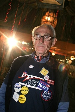 PARTY NIGHT :  Election night was the night for political junkies to show their colors, and Democrat activist Harlan Hobgood was no exception. - CHRISTOPHER GARDNER