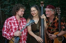 BLOWING IN THE WIND :  (Left to right) Kenny Blackwell, Piper Heisig, and Billy Foppiano recently formed Dustbowl Aristocracy, which plays April 7 at Green Acres Lavender Farm. - PHOTO COURTESY OF DUSTBOWL ARISTOCRACY