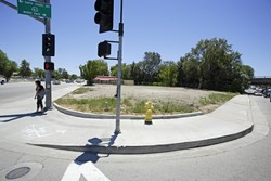 INTERCHANGE CHANGE :  Progress toward construction at the meeting of highways 41 and 101 in Atascadero has been a long time coming, but is meeting with some criticism. - PHOTO BY STEVE E. MILLER