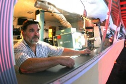 MOVIE MAN:  Larry Rodkey, owner of the Sunset Drive-In, has movies in his blood. His father Raymond ran the drive-in when it was opened in 1950 by the Pasquini family. - CHRISTOPHER GARNER