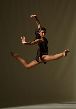 LEAPING LONG-LEGGED LIZARDS! :  Rosita Adamo is in her second year dancing with Ailey II. - PHOTO COURTESY OF EDUARDO PATINO