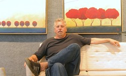 BIG DOG:  Ralph Gorton of Just Looking Gallery runs SLO Towns most successful gallery. - PHOTO BY CHRISTOPHER GARDNER
