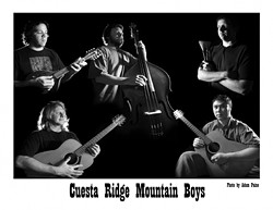 THE BOYS ARE BACK IN TOWNS :  The Cuesta Ridge Mountain Boys bring their badass bluegrass to the Arroyo Grande Village Summer Concert Series on Aug. 12 and SLO's Downtown for Grass Roots Night on Aug. 14. - PHOTO BY ADAM PAINE