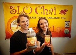 EASY BEIN' GREEN :  SLO Chai owners Joel and Tamra Pace bring organic fair trade teas to SLO County and beyond. - PHOTO BY JESSE ACOSTA