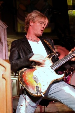 YOUNG GUN SLINGER :  Blues guitarist Kenny Wayne Shepherd, who plays May 27 at the Avila Beach Blues Festival, recently recorded a new album with his musical heroes, including B.B. King and Honeyboy Edwards. - PHOTO COURTESY OF KENNY WAYNE SHEPHERD
