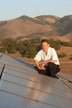 GOOD DAY SUNSHINE:  Easy on the pocketbook, easy on the Earth, solar energy is attracting a growing constituency on the Central Coast. Kurt Jackson powers his - A.G. home with this 5,000-watt rooftop photovoltaic system.