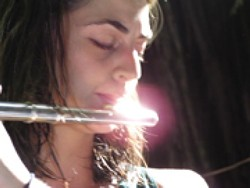 DOUBLE THREAT! :  Local jazz ensemble the Mike Raynor Group presents special guest flutist/vocalist Rebecca Kleinmann on April 18 at the Seaventure. - PHOTO COURTESY OF REBECCA KLEINMANN