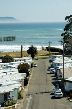 AFFORDABLE HOUSING :  Bella Vista in Cayucos is just one of many mobile-home parks in San Luis Obispo County. Thousands of county residents have found housing they can afford in well-located mobile-home parks, some of which are under threat of converting to other uses. - PHOTO BY JESSE ACOSTA
