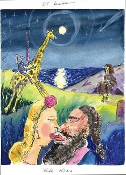 THE KISS: - IMAGE BY HERNAN CASTELLANO-GIRON