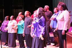GET RIGHT WITH GOD :  The House of Prayer Gospel Choir will provide uplifting songs on July 15 at the Rotary Bandstand on the Village Green in the Historic Village of Arroyo Grande, along with the Gold Coast Chorus. - PHOTO COURTESY OF HOUSE OF PRAYER GOSPEL CHOIR