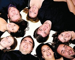 CIRCLE THE VOICES! :  Get an earful of Cuesta College's vocal jazz ensemble Voce on April 27 at St. Benedict's Episcopal Church. - PHOTO COURTESY OF VOCE