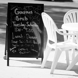 GOOD GRUB :  Clare McFarlin makes her gourmet meals from scratch, a touch that will bring diners back repeatedly to her Morro Bay restaurant. - PHOTO BY STEVE E. MILLER
