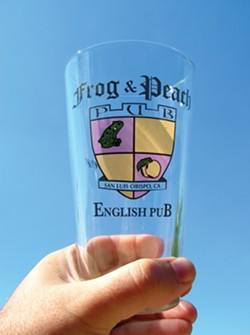 GLASS INVESTMENT :  If you are old enough, a Frog and Peach pint glass is a good investment for Tuesday nights. - PHOTO BY RYAN MILLER