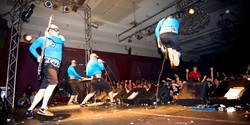 NERD ALERT! :  Aquabats, genius superheroes of nerdcore rock, leap into action Nov. 29 at Downtown Brew. - PHOTO COURTESY OF AQUABATS