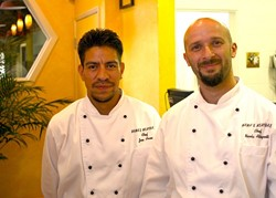 HUNGRY? :  Chefs Jose Arceo (left) and Nicola Allegretta bring the flavors of Italy to your dining-room table. - PHOTO BY JESSE ACOSTA