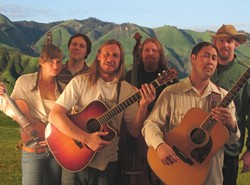 MOUNTAIN BOYS NO LONGER :  Cuesta Ridge (sans Mountain Boys please note their new fiddler Lillian Thomasson, who is clearly not a boy!) may release its new album (if they get the copies in time) at their Red Barn Concert in Los Osos on March 1. CDs or not, the show must go on. - PHOTO COURTESY OF CUESTA RIDGE