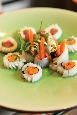 HERE, FISHY, FISHY :  Sushiya serves up tantalizing fish in a variety of colorful ways. - PHOTO BY STEVE E. MILLER