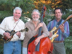 FACE OFF :  (Left to right) Mandolinist Tom Walters, bassist Ken Hustad, and guitarist Bruce Corelitz are Inner Faces, performing April 7 at the Red Barn in the South Bay Community Park in Los Osos. - PHOTO COURTESY OF INNER FACES