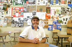 "BEYOND THE SCANTRON:  Ivan Simon, chair of San Luis Obispo High Schools English department, believes standardized tests are often ""a dumbing down or watering down of what students are doing."" - CHRISTOPHER GARDNER"