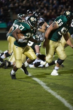 SOPHOMORE STANDOUT :  Slotback James Noble set a school rushing record during his freshman campaign. He is one of several younger players anchoring the offense. - PHOTO BY PATRICK M. KLEMZ