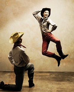 YEE-HAW! :  Michelle McLaughlin and Asael Picasso will be kicking up their heels in Rodeo. - PHOTO BY BARRY GOYETTE