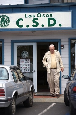 WALKING OUT :  After a battle to right the ship, the Los Osos CSD conceded to bankruptcy on Aug. 25. - PHOTO BY JESSE ACOSTA