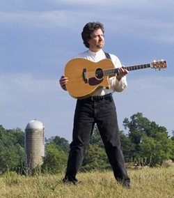 NICE SILO :  Award-winning Shenandoah Valley singer-songwriter-storyteller Andrew McKnight, a guy who dumped his corporate gig to become a traveling troubadour, plays Nov. 15 at Linnaea's Cafe . - PHOTO COURTESY OF ANDREW MCKNIGHT
