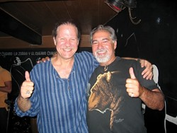 """ROOTS IN CUBA:  Cuban musician Pablo MenÈndez (left) and local Cuban-American George """"Jorge� MilanÈs are impacted by U.S. travel restrictions. - PHOTO COURTESY OF CENTRAL COAST CUBAN AMERICAN ALLIANCE"""