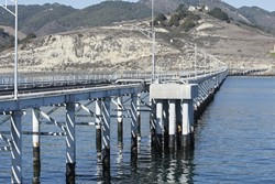 SIGHTING LAND :  The Cal Poly Pier opened to the public for one day in mid-November, but officials plan to repeat the event once a quarter, so locals can explore the research and student work that happens on the steel and concrete structure. - PHOTO BY STEVE E. MILLER