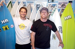 STOKED :  Anthony Randazzo and Nate Ditmore , founders of Morro Bay Surf Company, have been gearing up for their first-ever Central Coast Invitational. - PHOTO BY JESSE ACOSTA