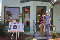 VINYL FANTASY :  Jeremiah and Bree Highhouse want locals to find something new in their vintage record store, which doubles as an art gallery. - PHOTO COURTESY OF LARRY S. RHODES